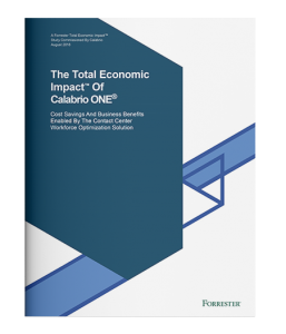 Forrester Total Economic Impact (TEI) of Calabrio ONE